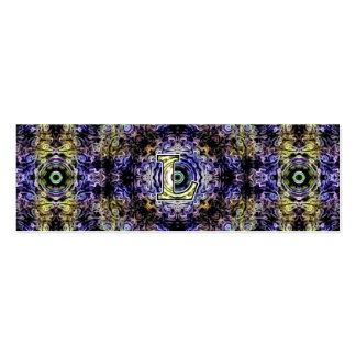 Electricidad púrpura amarilla L del fractal Plantillas De Tarjeta De Negocio