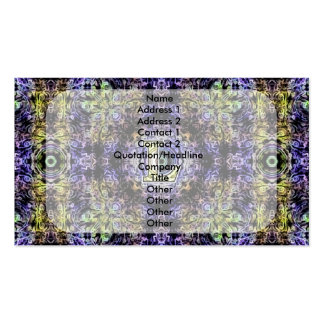 Electricidad púrpura amarilla L del fractal Tarjetas De Visita