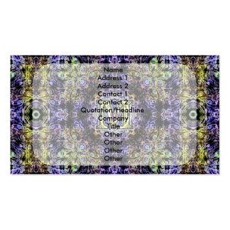 Electricidad púrpura amarilla M del fractal Tarjeta Personal