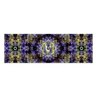 Electricidad púrpura amarilla M del fractal Tarjetas De Negocios