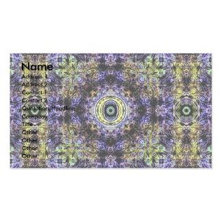 Electricidad púrpura amarilla O del fractal Plantillas De Tarjeta De Negocio