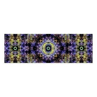 Electricidad púrpura amarilla O del fractal Plantillas De Tarjetas De Visita