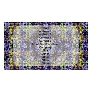 Electricidad púrpura amarilla P del fractal Tarjeta Personal
