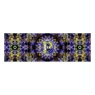 Electricidad púrpura amarilla P del fractal Plantillas De Tarjetas Personales