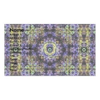 Electricidad púrpura amarilla Q del fractal Tarjetas De Visita