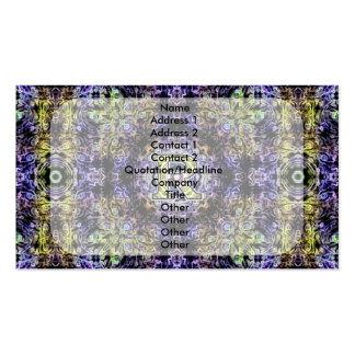 Electricidad púrpura amarilla R del fractal Tarjetas De Visita