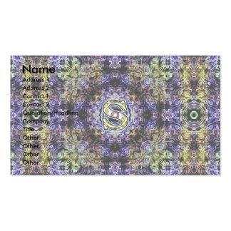 Electricidad púrpura amarilla S del fractal Plantilla De Tarjeta Personal