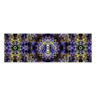 Electricidad púrpura amarilla T del fractal Tarjetas De Visita