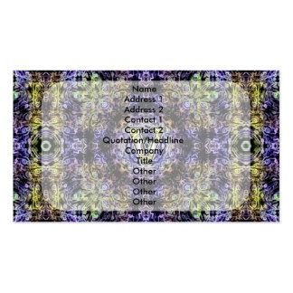 Electricidad púrpura amarilla V del fractal Tarjeta De Visita