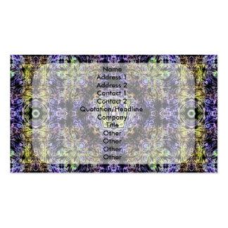 Electricidad púrpura amarilla W del fractal Plantilla De Tarjeta De Negocio