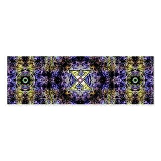 Electricidad púrpura amarilla X del fractal Plantilla De Tarjeta De Negocio