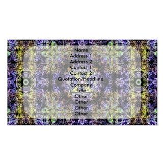 Electricidad púrpura amarilla X del fractal Plantillas De Tarjeta De Negocio