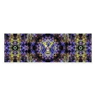 Electricidad púrpura amarilla Y del fractal Tarjeta De Visita
