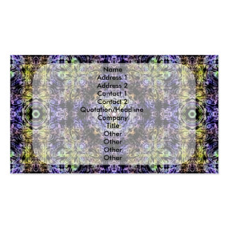 Electricidad púrpura amarilla Y del fractal Tarjetas De Visita
