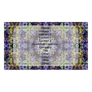 Electricidad púrpura amarilla Z del fractal Tarjetas De Negocios