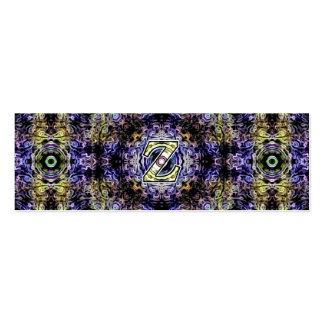 Electricidad púrpura amarilla Z del fractal Tarjeta De Negocio