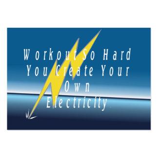 Electricidad SUPERIOR del entrenamiento Tarjetas De Visita