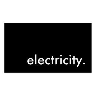 electricidad tarjeta de visita