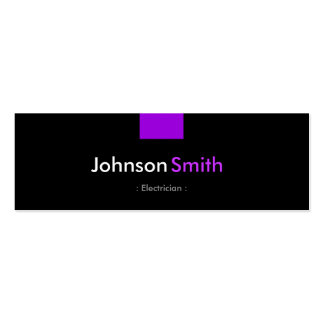 Electricista - acuerdo púrpura violeta plantillas de tarjeta de negocio