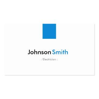 Electricista - aguamarina simple azul tarjetas personales
