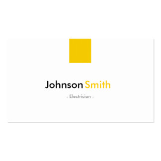 Electricista - amarillo ambarino simple tarjeta de visita