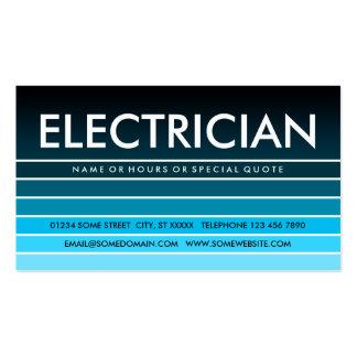 ELECTRICISTA azul de la muestra Tarjetas De Visita