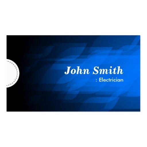Electricista - azul marino moderno tarjeta de visita