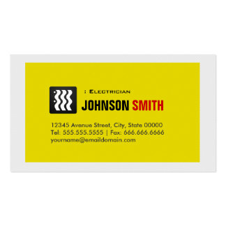 Electricista - blanco amarillo urbano tarjetas de visita