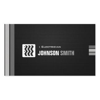 Electricista - blanco negro urbano tarjetas de visita