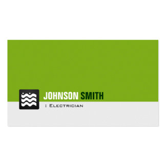 Electricista - blanco verde orgánico tarjeta de visita