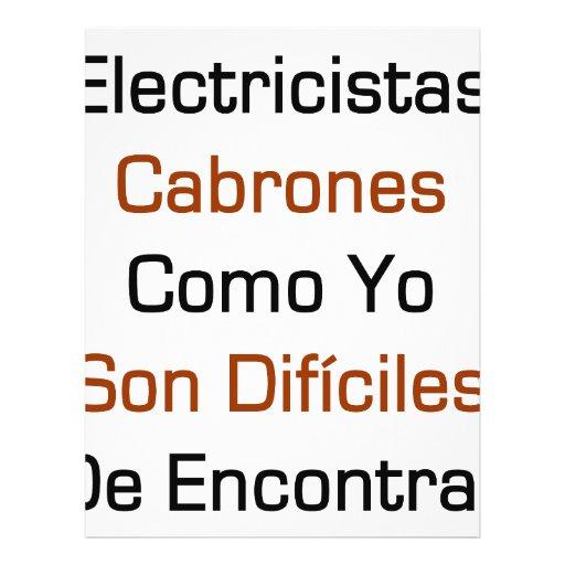 Electricista Cabrones Como Yo Son Dificiles De Enc Flyer Personalizado