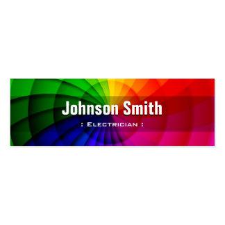 Electricista - colores radiales del arco iris tarjeta de visita