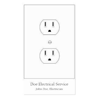 Electricista/contratista eléctrico/blanco vertical tarjetas de visita
