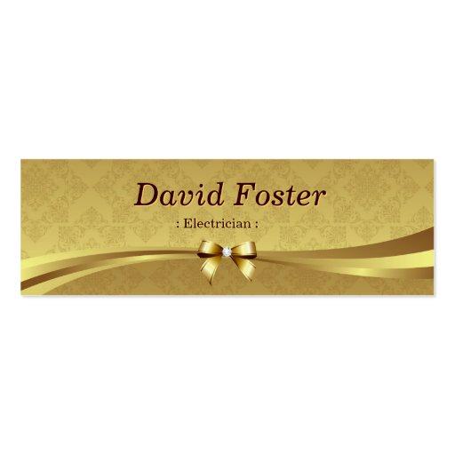 Electricista - damasco brillante del oro tarjeta de visita