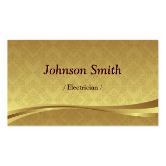 Electricista - damasco elegante del oro tarjetas de visita
