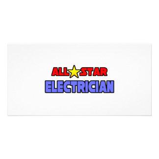 Electricista de All Star Tarjeta Con Foto Personalizada