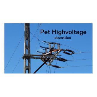 electricista de alto voltaje tarjetas de visita