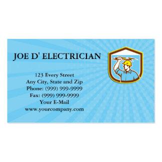Electricista de la tarjeta de visita que lleva a c