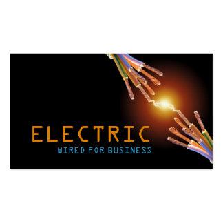 Electricista, eléctrico, tarjeta de visita de cons