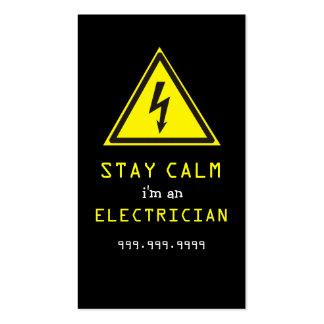 Electricista eléctrico tarjeta de visita de cons