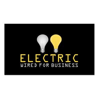 Electricista, eléctrico, tarjeta de visita de tarjetas de visita