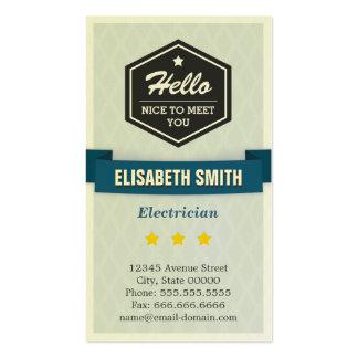 Electricista - elegante retro creativo tarjeta de visita