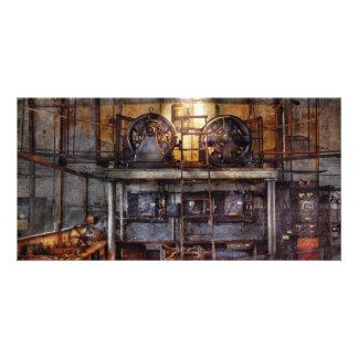 Electricista - estación de la turbina tarjetas fotográficas