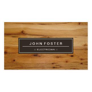 Electricista - grano de madera de la frontera tarjetas de visita