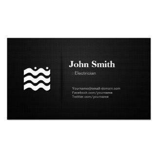 Electricista - icono cambiable superior plantillas de tarjetas de visita