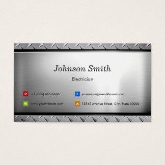 Electricista - mirada elegante del platino tarjeta de negocios