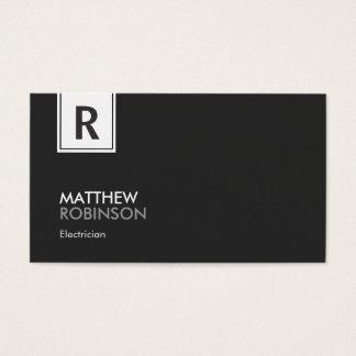 Electricista - monograma con clase moderno tarjeta de negocios