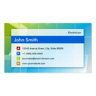 Electricista - multiusos moderno plantilla de tarjeta de visita
