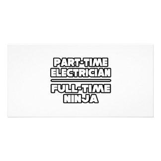 Electricista… Ninja Tarjetas Personales Con Fotos