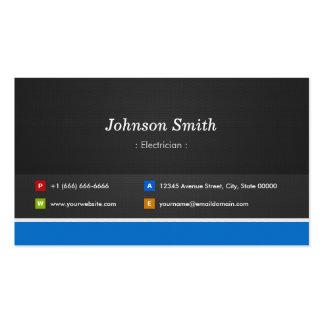Electricista - personalizable profesional tarjetas de visita